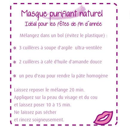 Masque Purifiant Fait Maison | Ventana Blog